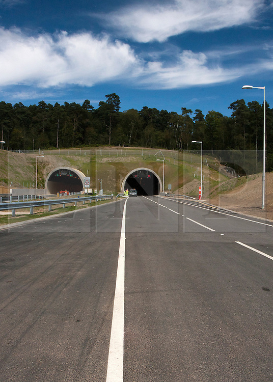 © Licensed to London News Pictures. 25/07/2011. Hindhead, Surrey, UK. After nearly 30 years of proposals and 8-years of planning, design and construction the £371 Million project opens to the traffic on Wednesday 27th July 2011. . Photo credit: Sam Spickett/LNP
