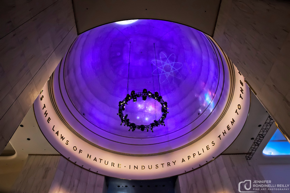 The inside of the domed roof at the Museum of Science and Industry in Chicago, IL. Photo by Jennifer Rondinelli Reilly. All Rights Reserved. No use without permission.
