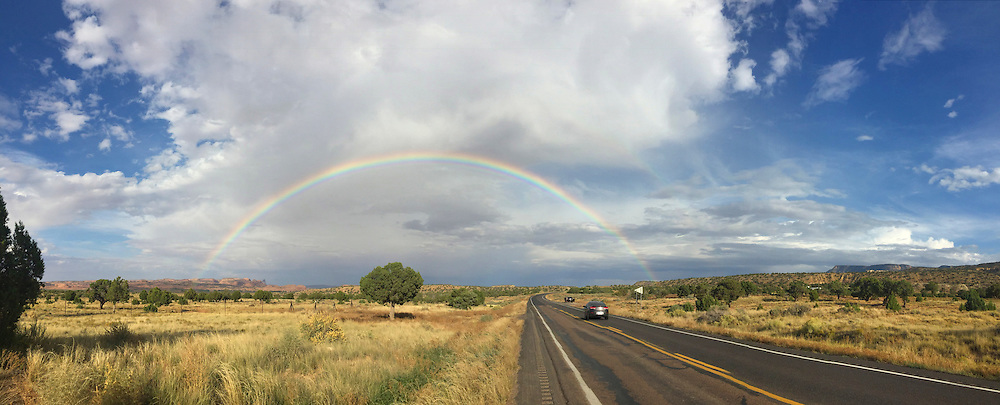 Rainbow at Buena Vista National Wildlife Refuge, Arizona. (iphone 6)
