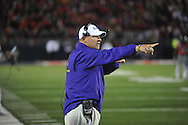 Ole Miss vs. LSU coach Les Miles at Vaught-Hemingway Stadium in Oxford, Miss. on Saturday, October 19, 2013. Mississippi won 27-24. (AP Photo/Oxford Eagle, Bruce Newman)