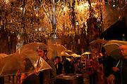"""Urban nature"" section of the Sigapore pavilion where the visitors experience Singapore's rain. AICHI WORLD EXPO 2005, Nagoya 7-April-2005, Japan"