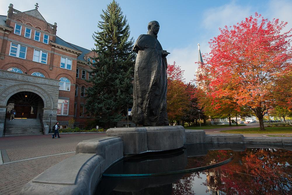 Scene from campus at Gonzaga University. (Photo by Rajah Bose)