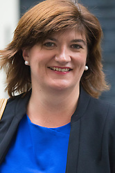 Downing Street, London, September 8th 2015.  Education Secretary Nicky Morgan leaves 10 Downing Street following the first cabinet meeting after the summer holidays, prior to a debate in the House of Commons on the refugee crisis.