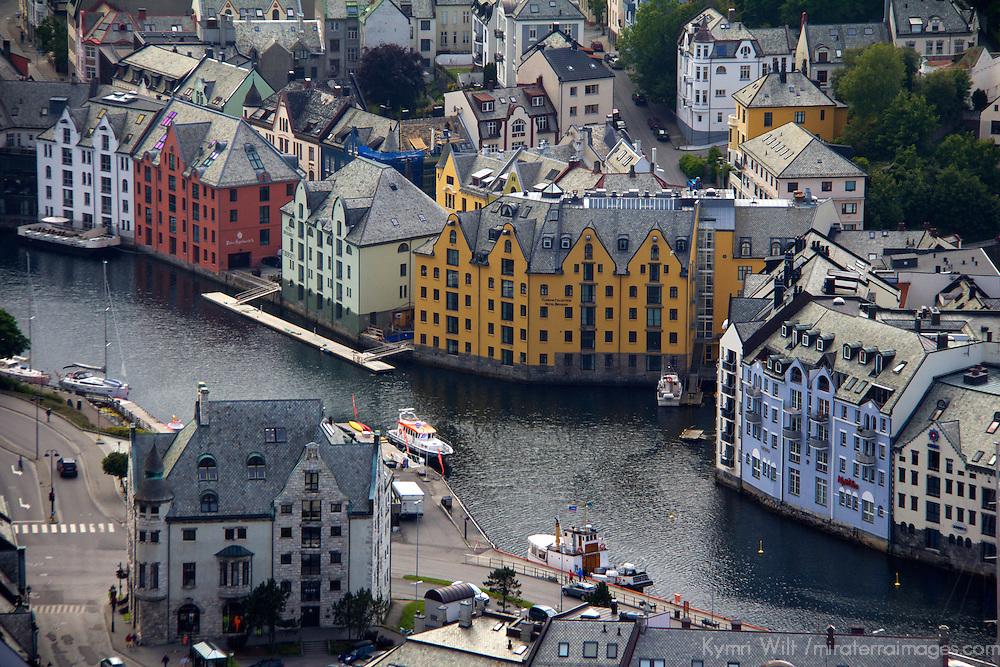 Europe, Norway, Alesund. Alesund Inner Harbor.