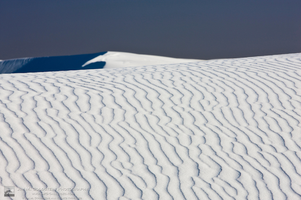 High contrast desert patterns and formations in White Sands National Monument, New Mexico