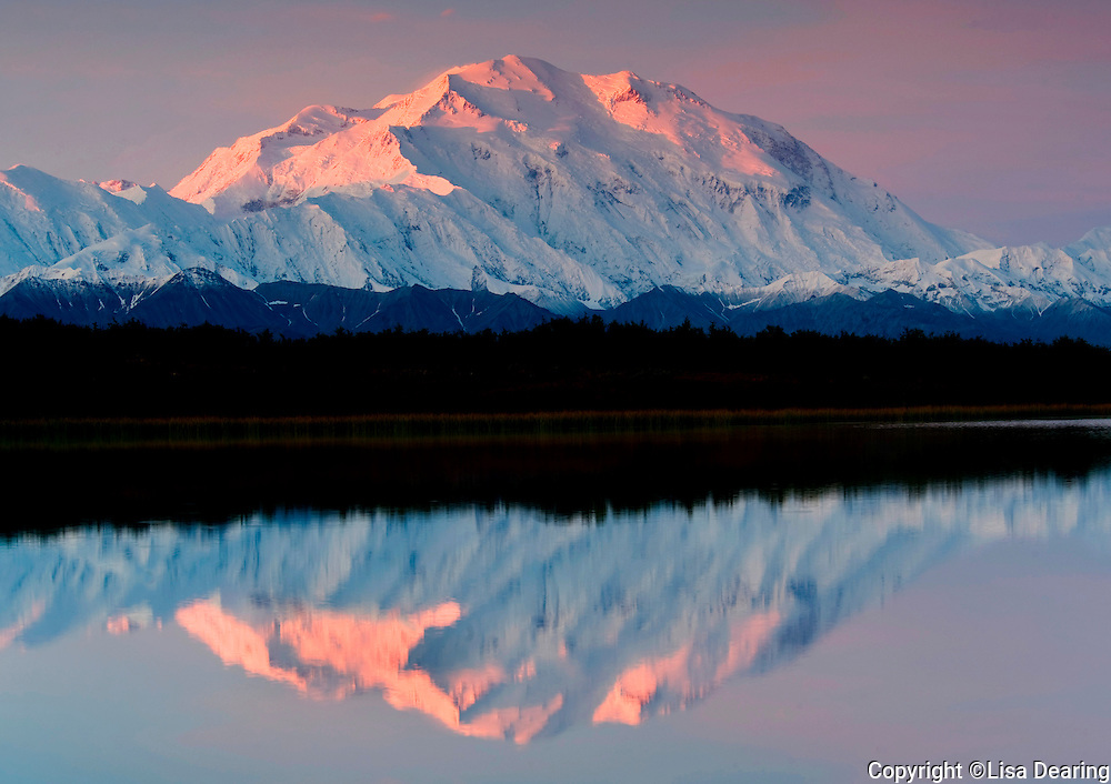 Mount Mckinley from Reflection Pond, Denali National Park, Alaska