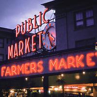 Pike Street Public Market, Farmers Market, Seattle, Washington