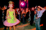 A socialite poses during a fund raiser in the wealthy California community of La Jolla.