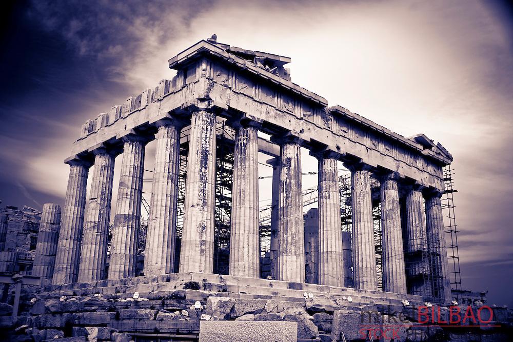 Parthenon on the Acropolis.<br /> Athens, Greece, Europe.
