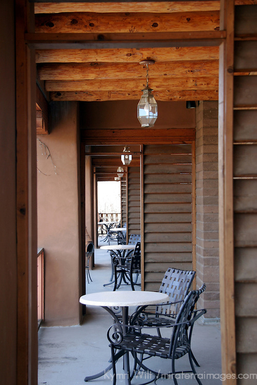 North America, USA, New Mexico, Santa Fe. Bishop's Lodge Terraces