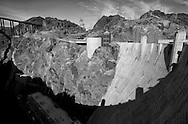 Hoover Dam in the Black Canyon of the Colorado River.