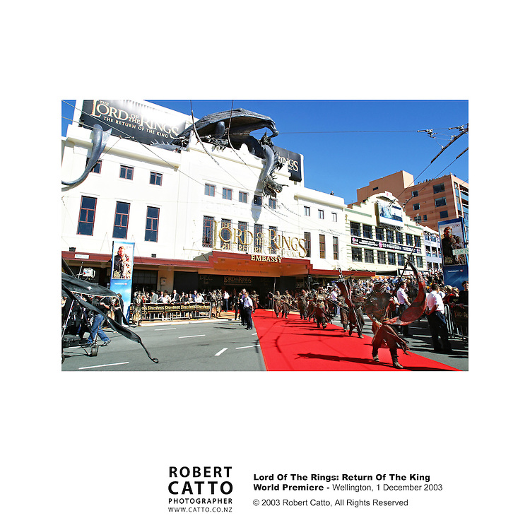 Lord Of The Rings Premiere, Embassy Theatre, Wellington New Zealand