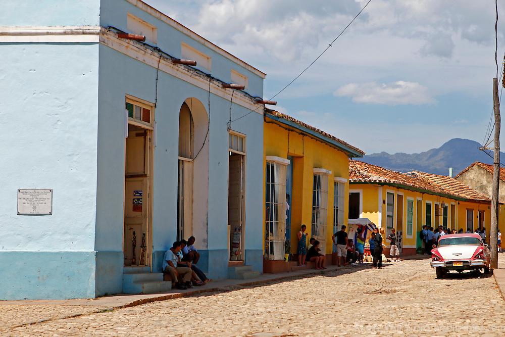 Central America, Cuba, Trinidad. Street scene of Trinidad, Cuba.