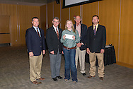 Rebecca Unruh at the Oklahoma Jr. Wheat Show. 4-H and FFA members compete in a Quality Contest for Wheat samples.