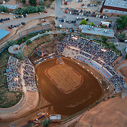 Aerial view of Red Rock Park during the 89th Annual Inter-Tribal Indian Ceremonial in Gallup