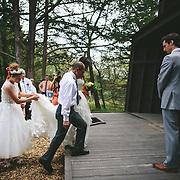 May 10 2014 - Amanda Vuu and Joshua Hobbs married in Platte River State Park in Nebraska.