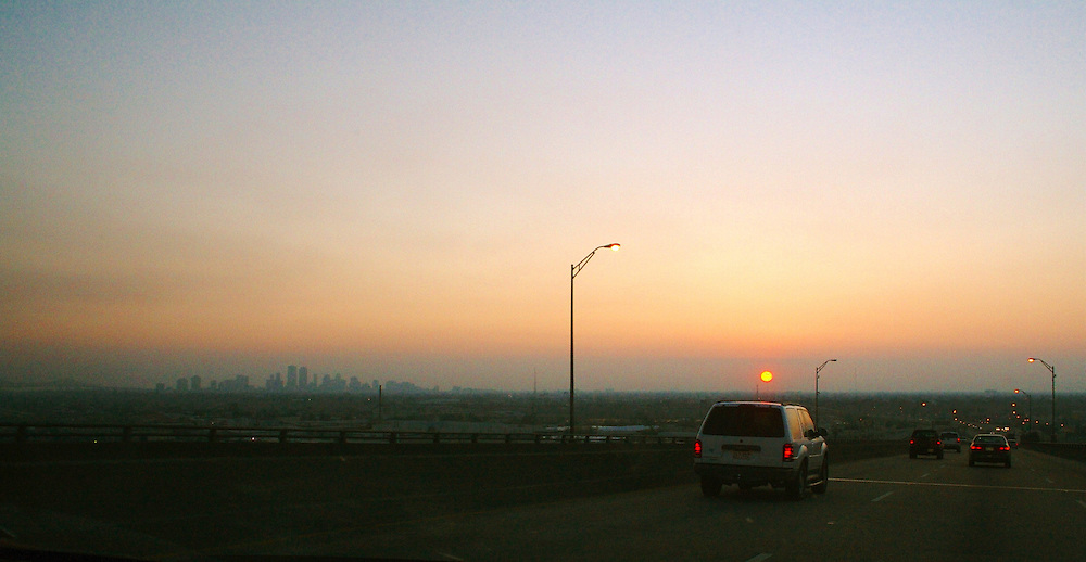 New Orleans Skyline From I-10 High-Rise