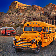 Abandoned School Buses - Eldorado Canyon Techatticup Mine - Nelson NV - HDR