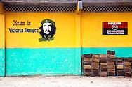 Wall with Che in Velasco, Holguin, Cuba.