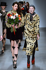 FEB 16 2014 Vivienne Westwood show at London Fashion Week A/W 2014