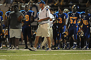 Oxford High coach Johnny Hill vs. Lafayette High in the annual Crosstown Classic football game, at William L. Buford Stadium at LHS, in Oxford, Miss. on Friday, September 13, 2013. Oxford High won 30-0.