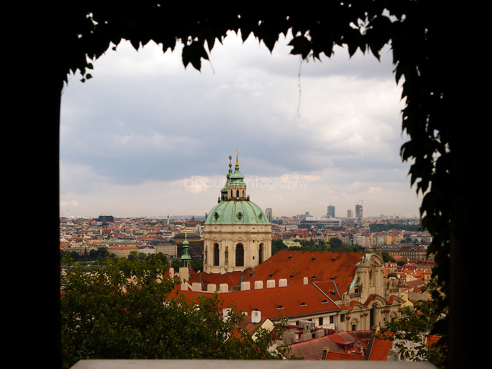 View of the city from the castle Prague, Czech republic