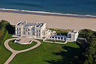 Mansion along the coast, 101 Lily Pond Ln, aerial, New York, East Hampton, New York