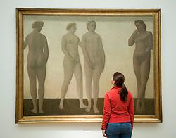 Diana by Vilhelm Hammershoi at Statens Museum for Kunst or Royal Museum of Fine Arts in Copenhagen Denmark