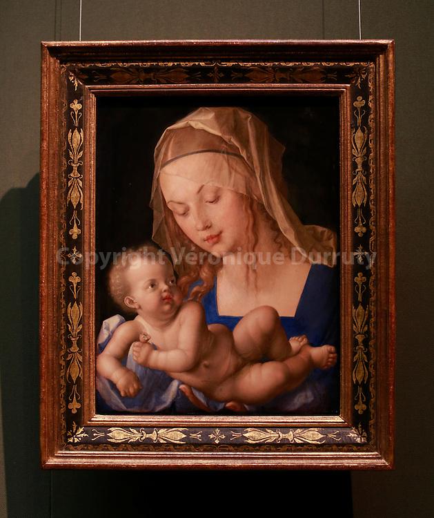 Paintings gallerie, Kunsthistorisches Museum, Vienna, Austria : Albrecht Durer Madona, 1512 // Galerie de peinture du Kunsthistorisches Museum, Vienne, Autriche, madone de Albrecht Durer, 1512