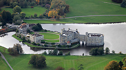 Image &copy;Licensed to i-Images Picture Agency. Aerial views. United Kingdom.<br /> Leeds Castle, Kent. Picture by i-Images