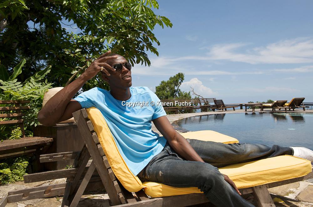 UsainBolt in Strawberry Hill above Kingston, Jamaica June 2008