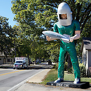 Gemini Giant at the Launching Pad, Wilmington, Illinois. .Driving the Illinois and Missouri road of Route 66...Driving the Illinois and Missouri road of Route 66.