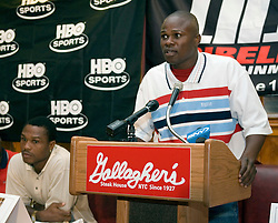 July 6, 2006 - New York, NY - Former Welterweight champion, Vernon Forrest during the press conference announcing his upcoming August 5, 2006 fight against Ike Quartey at the Theater at Madison Square Garden.