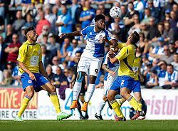 Ellis Harrison of Bristol Rovers is challenged by Matty Pearson of Accrington Stanley - Mandatory byline: Rogan Thomson/JMP - 07966 386802 - 12/09/2015 - FOOTBALL - Memorial Stadium - Bristol, England - Bristol Rovers v Accrington Stanley - Sky Bet League 2.