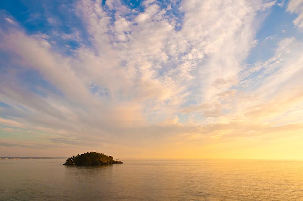 Deception Island from Rosario Head, Deception Pass State Park, Fidalgo Island, Washington.