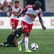 New York Red Bulls Attacker BRADLEY WRIGHT-PHILLIPS (99) dribbles down the field in the first half of a Major League Soccer match between the Philadelphia Union and New York Red Bulls Sunday, July. 17, 2016 at Talen Energy Stadium in Chester, PA.
