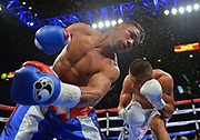 LAS VEGAS, NV - MAY 05:  Yuriorkis Gamboa (L) throws a left at Robinson Castellanos during their lightweight fight at MGM Grand Garden Arena on May 5, 2017 in Las Vegas, Nevada. Castellanos won by seventh-round TKO.  (Photo by Sam Wasson/Getty Images)