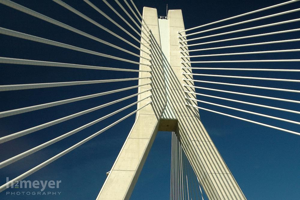 An odd sight on a drive through rural Ireland, the ultra modern River Boyne Bridge in Drogheda is a new landmark.