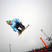 12/20/08 10:37:19 AM -- Breckenridge, CO, U.S.A. -- Snowboarder Danny Kass of Mammoth Lakes, Ca. blasts out of the superpipe at the inaugural Winter Dew Tour in Breckenridge, Co. on December 20, 2008. Kass finished 8th in the event with a score of 79. The four-day competition is the first of three stops on the tour that features freeskiing and snowboarding..(Photo by Marc Piscotty / © 2008)