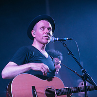 Stuart Murdoch of  Belle and Sebastian performs in the Debates Chamber at Glasgow University on June 13, 2016 in Glasgow, Scotland. Photo by Ross Gilmore