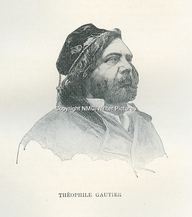 Theophile Gautier, French poet, dramatist, novelist, journalist, and art and literary critic<br /> <br /> Copyright NMG/Writer Pictures<br /> WORLD RIGHTS