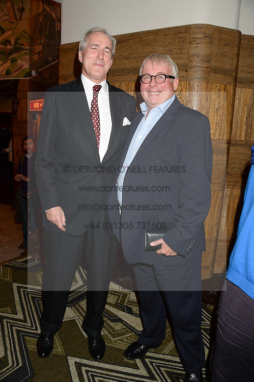 Left to right, JEREMY KING and CHRISTOPHER BIGGINS at a first night of Celia Imrie's show Laughing Matters held at The Crazy Coqs, Brasserie Zedel, 20 Sherwood Street, Piccadilly, London on 17th September 2013.