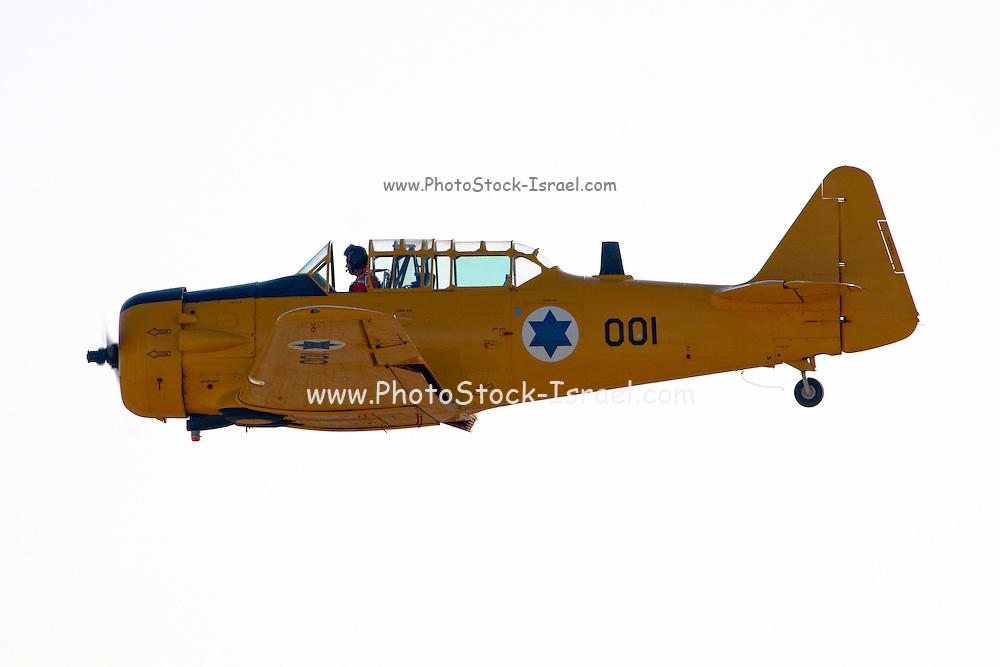 Israeli Air force North American Aviation T-6 Texan single-engine advanced trainer aircraft in flight