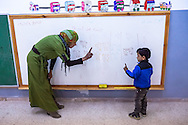 Mathematics class for children with a mental disability at Jofeh Community Center in Jordan, Middle-East.