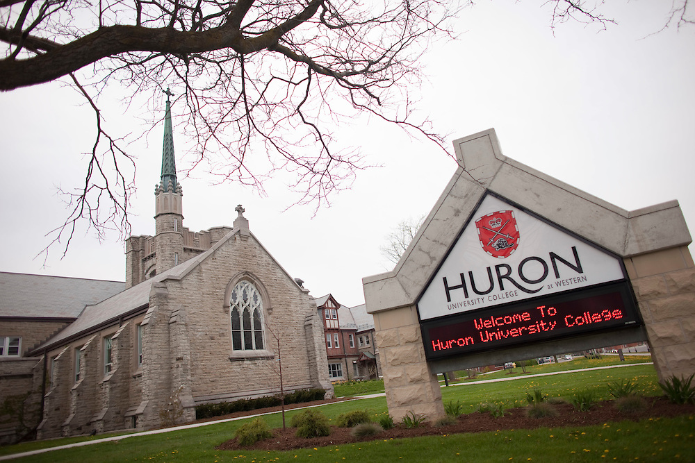 London, ONT.: May 11, 2011 -- Scenic shot of the Huron University College on the campus of the University of Western Ontario in London, Ontario, May 11, 2011. <br /> (GEOFF ROBINS for National Post)