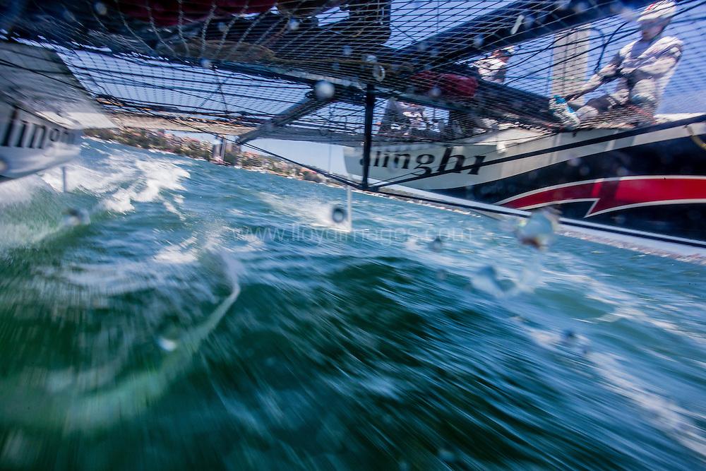 The Extreme Sailing Series 2016. Alinghi : Arnaud Psarofaghis, Nicolas Charbonnier,Nils Frei, Yves Detrey, Timothé Lapauw. Act 8.Sydney,Australia. 8th-11th December 2016. Credit - Jesus Renedo/Lloyd Images