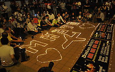 APR 08 2014 Vigil to mark one-month of the missing MH370 flight