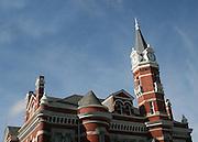 High Noon on the clock tower of Brunswick Georgia, city hall.