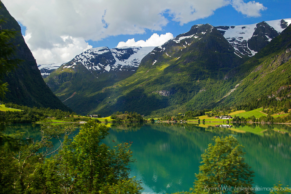 Europe, Norway, Olden. Lake Floen, Olden.