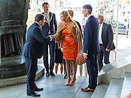 11-5-2016 ROTTERDAM - Queen Maxima hold Wednesday, May 11th as a special advocate of the UN Secretary General for inclusive finance for developing a speech at the international climate conference &quot;Adaptation Futures 2016 'at the World Trade Center in Rotterdam. The conference focuses on the impact of climate change and from Tuesday 10 to Friday, May 13th held under the Dutch EU Presidency. COPYRIGHT ROBIN UTRECHT luka de kruijf <br /> 11-5-2016 ROTTERDAM - Koningin Maxima houdt woensdag 11 mei als speciale pleitbezorger van de VN secretaris-generaal voor inclusieve financiering voor ontwikkeling een toespraak tijdens de internationale klimaatconferentie &lsquo;Adaptation Futures 2016&rsquo; in het World Trade Center in Rotterdam. De conferentie richt zich op de gevolgen van de klimaatverandering en wordt van dinsdag 10 tot en met vrijdag 13 mei gehouden in het kader van het Nederlandse EU-voorzitterschap. COPYRIGHT ROBIN UTRECHT